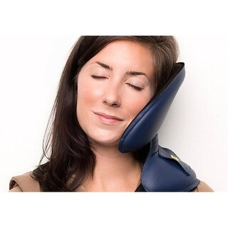 NapAnywhere NABLU Head Support Travel Pillow, Cobalt