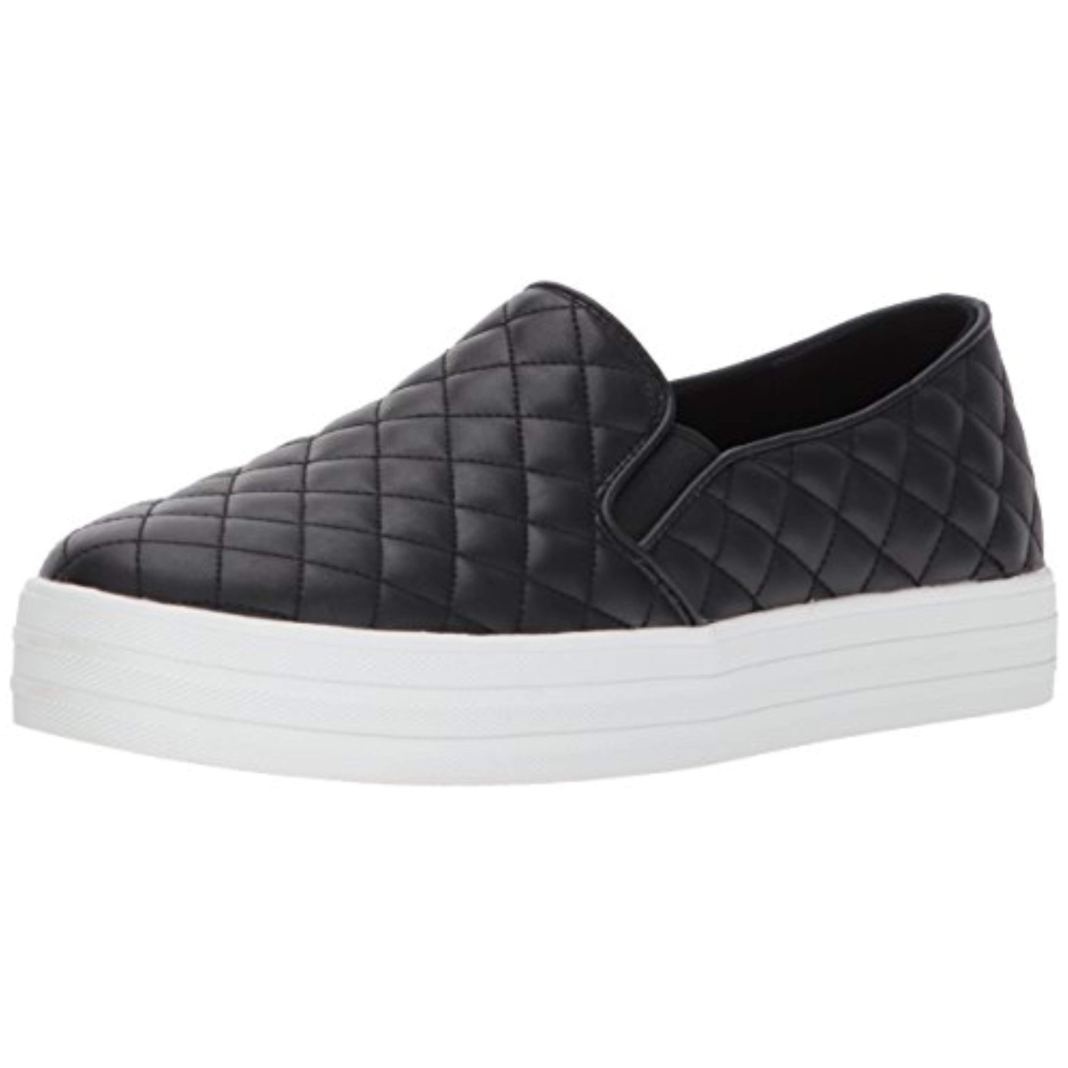 Skecher Street Women's Double Up Quilted Fashion Sneaker, Black