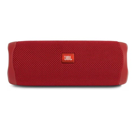 JBL Flip 5 Portable Waterproof Bluetooth Speaker (Fiesta Red)