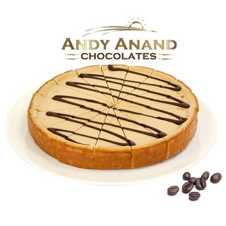 "Link to Andy Anand Mocha Cheesecake 9"" (2 lbs) With Greeting Card Similar Items in Gourmet Food Baskets"