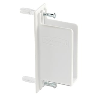 Rubbermaid FG3D68LW  FreeSlide Garage Organizer Mounting End Bracket - White
