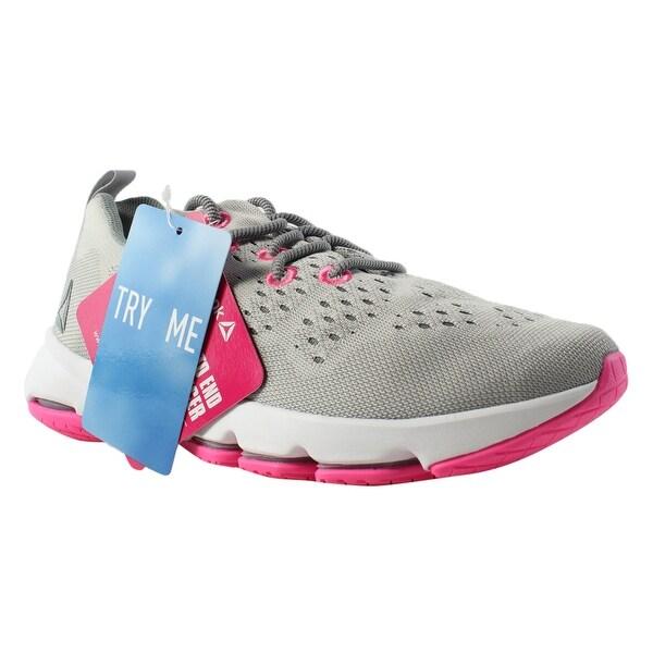 324a5790479 Reebok Womens Cloudride Ls Dmx SkullGrey FlatGrey White PoisonPink Walking  Shoes Size 6