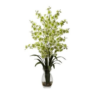 Nearly Natural Dancing Lady Orchid with Vase Arrangement