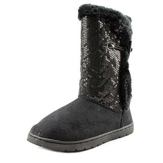 Rampage Girls Tammie Round Toe Canvas Mid Calf Boot