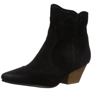 Qupid Womens Rhythm-13 Pointed Toe Ankle Fashion Boots