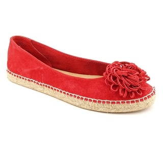 White Mountain Adorable Women Round Toe Suede Red Flats