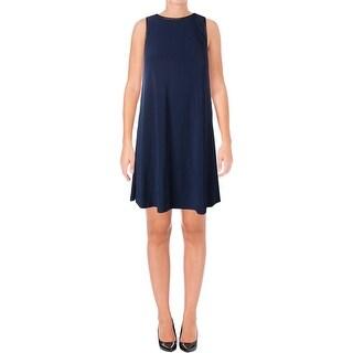 Lauren Ralph Lauren Womens Wear to Work Dress Faux Trim Sleeveless