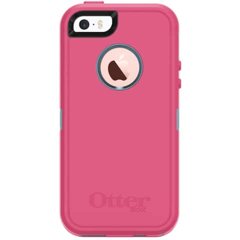 OtterBox Defender Series Case w/ Screen Protector (NO Holster Clip) Protective for iPhone 5/5s/SE-Non-Retail Packaging-Blue/Pink