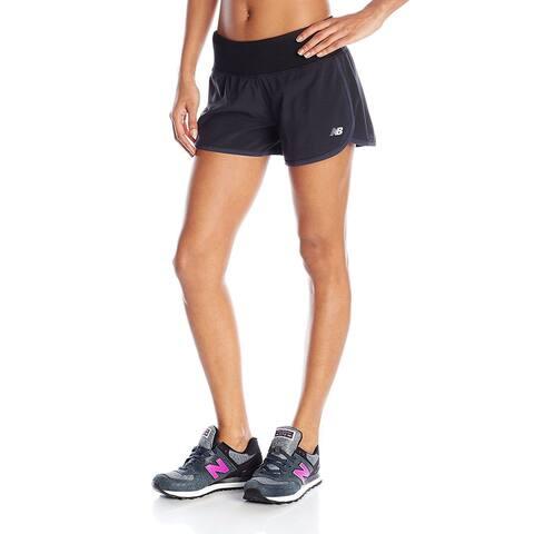 "New Balance Women's Impact 3"" Shorts, Black, SZ X-Large"