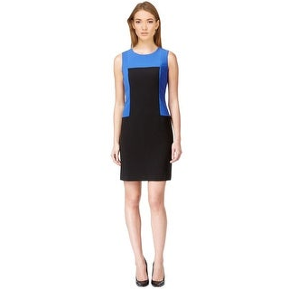 Calvin Klein Colorblock Sleeveless Sheath Dress - 12