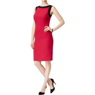 Kasper Womens Petites Party Dress Crepe Two Tone