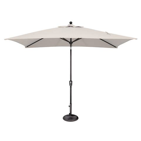 SimplyShade Catalina 6'x10' Rectangle Push Button Tilt Umbrella, Black Frame Finish