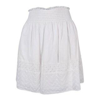 Calvin Klein Women's Eyelet Trim A-Line Skirt - S