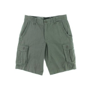 Hurley Mens Cotton Flat Front Cargo Shorts - 36