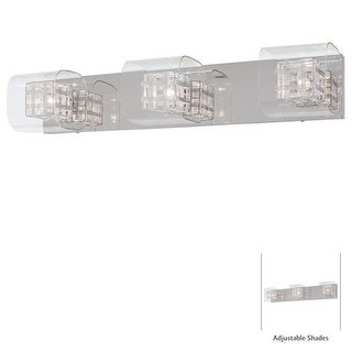 "Kovacs P5803 3 Light 26"" Bathroom Vanity Light from the Jewel Box Collection - Chrome"