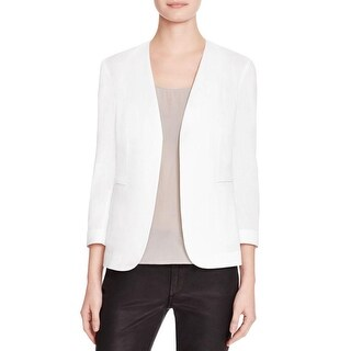 Theory Womens Blazer Linen Open