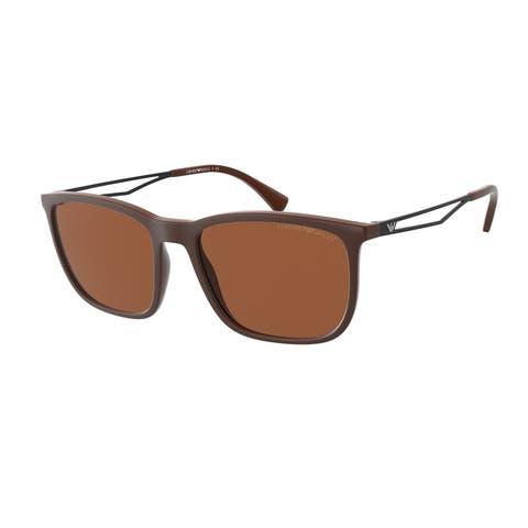 Emporio Armani EA4154 526072 56 Matte Brown Man Pillow Sunglasses