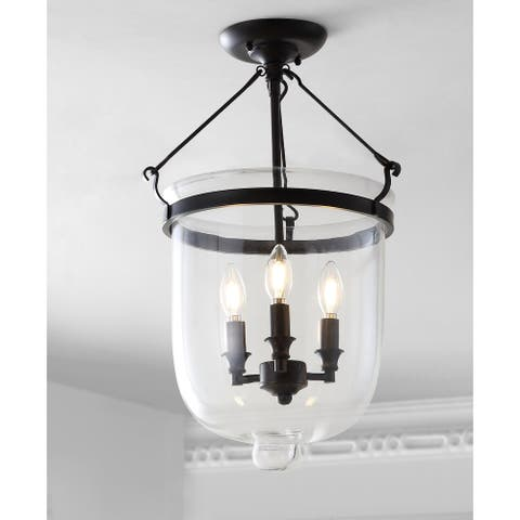 "Charlotte 14.5"" Metal/Glass LED Semi-Flush mount by JONATHAN Y"