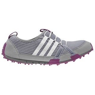 Adidas Women's Climacool Ballerina Light Onix/Running White/Tribe Purple Golf Shoes Q46957