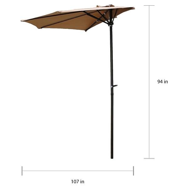 International Caravan St. Kitts 9-foot Wall Hugger Patio Umbrella