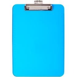 Blue - Low Profile Neon Plastic Clipboard