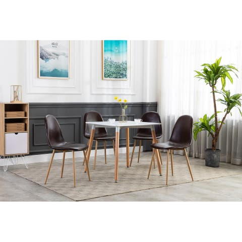 Porthos Home Qara Small Dining Table, Square Top, Beechwood Legs