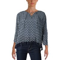 Scotch & Soda Womens Casual Top Printed Lace Up