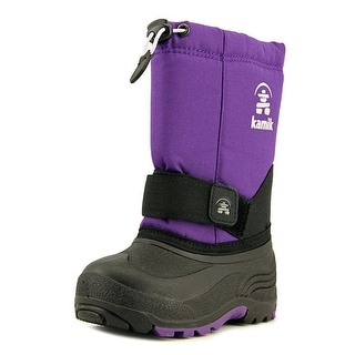 Kamik Rocket Youth Round Toe Canvas Purple Winter Boot