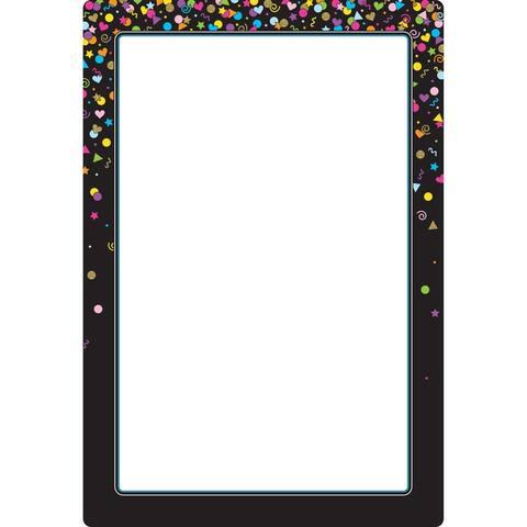 "Smart Poly® Chart Black Confetti Blank, 13"" x 19"""