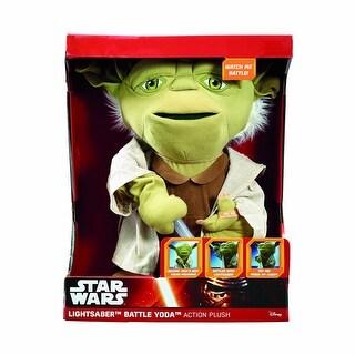 """Star Wars 16"""" Action Plush: Lightsaber Battle Yoda"""