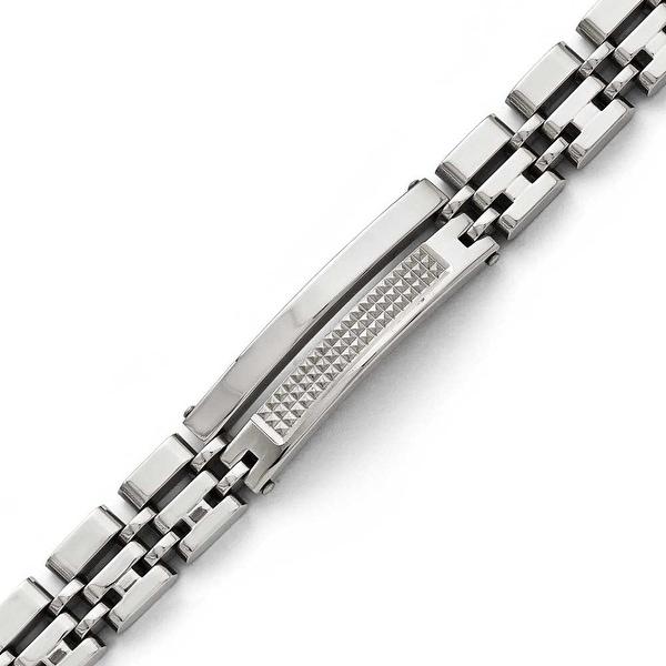 Chisel Stainless Steel Brushed & Polished Bracelet