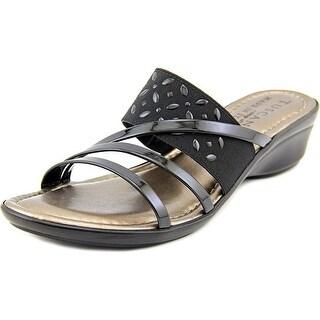 Easy Street Atessa Women W Open Toe Patent Leather Slides Sandal