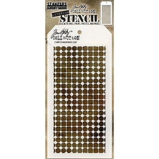 "Tim Holtz Layered Stencil 4.125""X8.5""-Grid Dot"