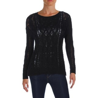 Denim & Supply Ralph Lauren Womens Pullover Sweater Cable Knit Long Sleeves