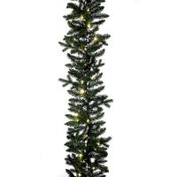 "9' x 12"" Pre-Lit Classic Green Artificial Christmas Garland – White LED Lights"