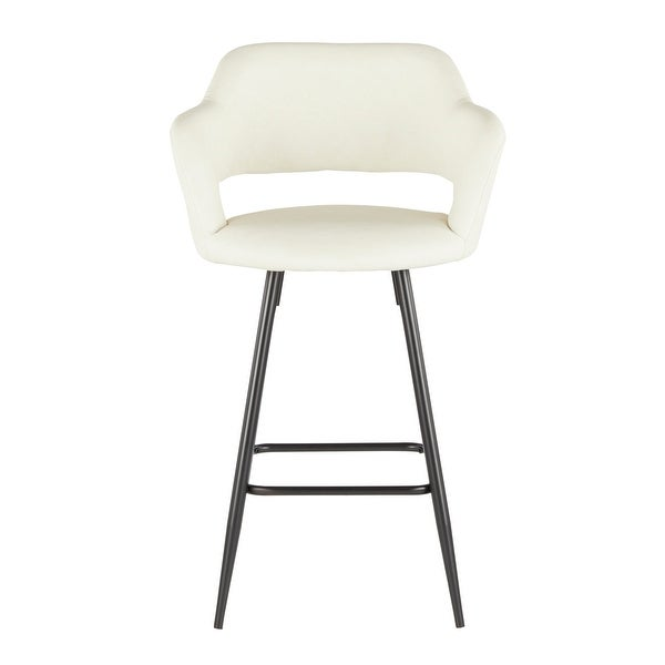 Margarite Contemporary Upholstered Counter Stool (Set of 2) - N/A. Opens flyout.