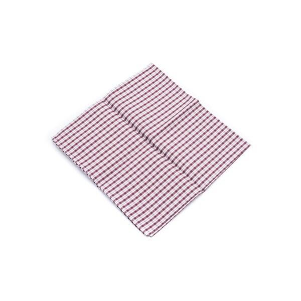 Brunello Cucinelli Red Checkered 100 Percent Cotton Pocket Square