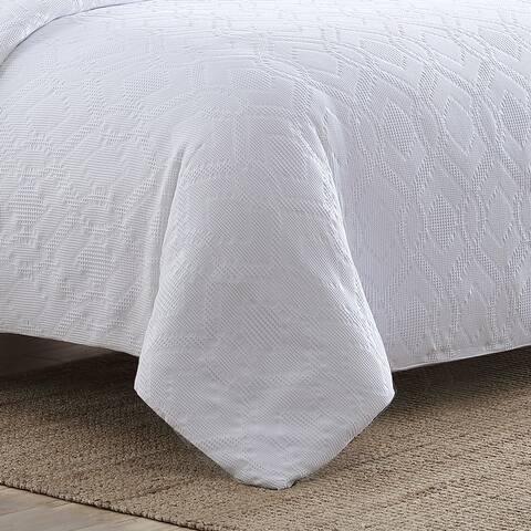 Tommy Bahama Textured Waffle White Comforter Set