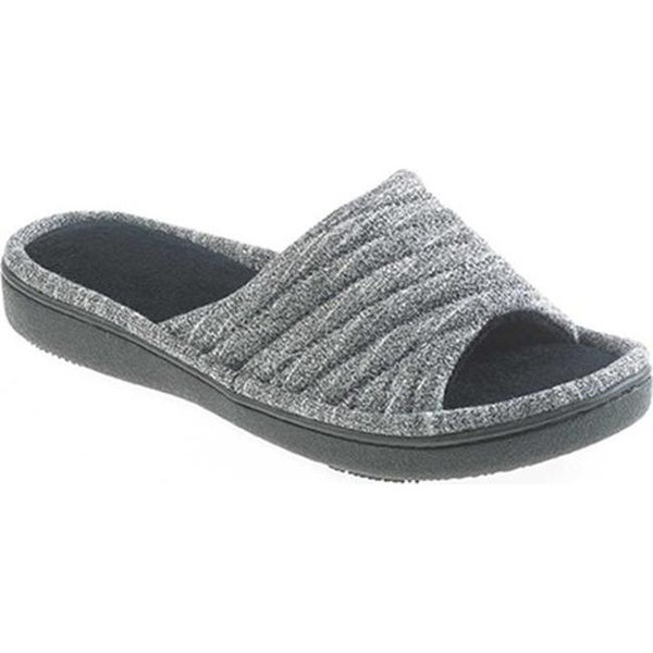 21863cd46fbdb6 Shop Isotoner Women's Space Knit Andrea Clog Slipper Black Knit - On Sale -  Free Shipping On Orders Over $45 - Overstock - 19679710
