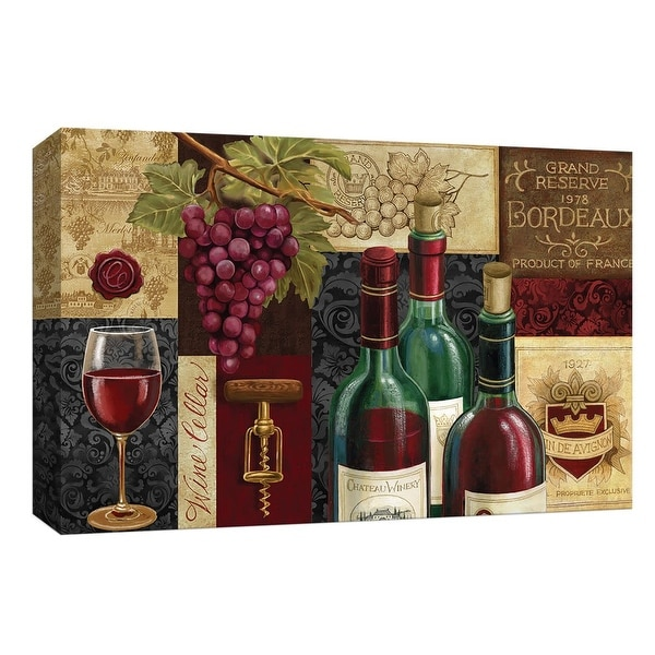 """PTM Images 9-148104 PTM Canvas Collection 8"""" x 10"""" - """"Favorite Reds"""" Giclee Wine Art Print on Canvas"""