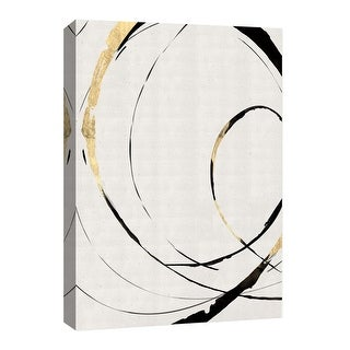 """PTM Images 9-126681  PTM Canvas Collection 8"""" x 10"""" - """"Gold Ribbon III"""" Giclee Abstract Art Print on Canvas"""