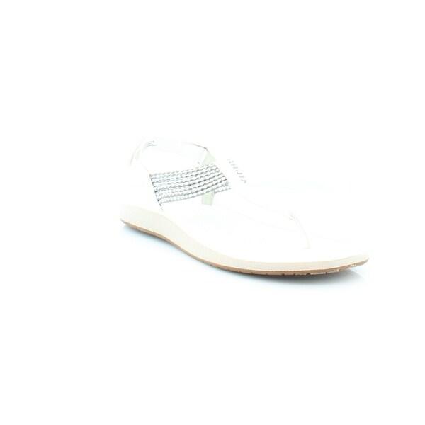 Jambu Yasmin Women's Sandals & Flip Flops White/Silver - 6.5
