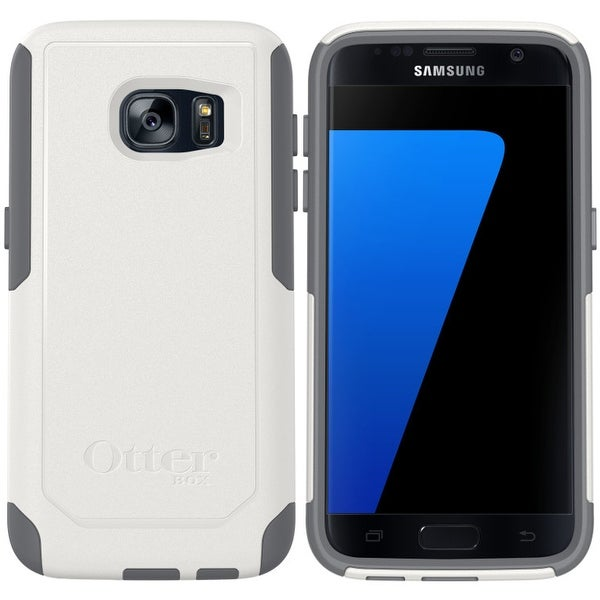 NEW OtterBox Commuter Series Samsung Galaxy S7 Drop Protection Case White/Grey