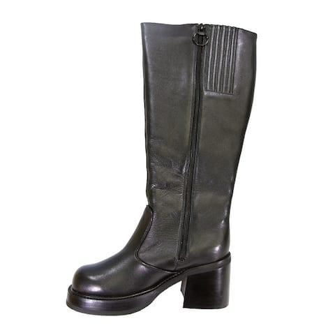 PEERAGE Terri Women's Extra Wide Width Leather Knee High Boots