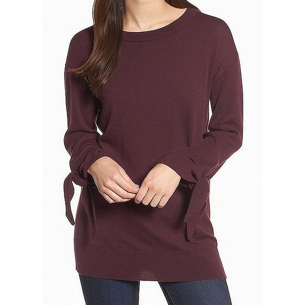 Shop TROUVE Boat Neck Tie-Sleeve Womens Small Crewneck Sweater - Free  Shipping On Orders Over  45 - Overstock.com - 26906881 c9e02ad2d