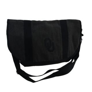 Gray Cotton University of Oklahoma Sooners Messenger Bag - Black
