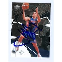 Jon Barry Autographed Basketball Card Detroit Pistons 2003 Upper