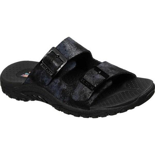 ffeb0114292b ... Women s Sandals. Skechers Women  x27 s Reggae Landscape Slide Sandal  Black