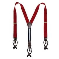 Tommy Hilfiger Men's Elastic Convertible Button & Clip End Suspenders