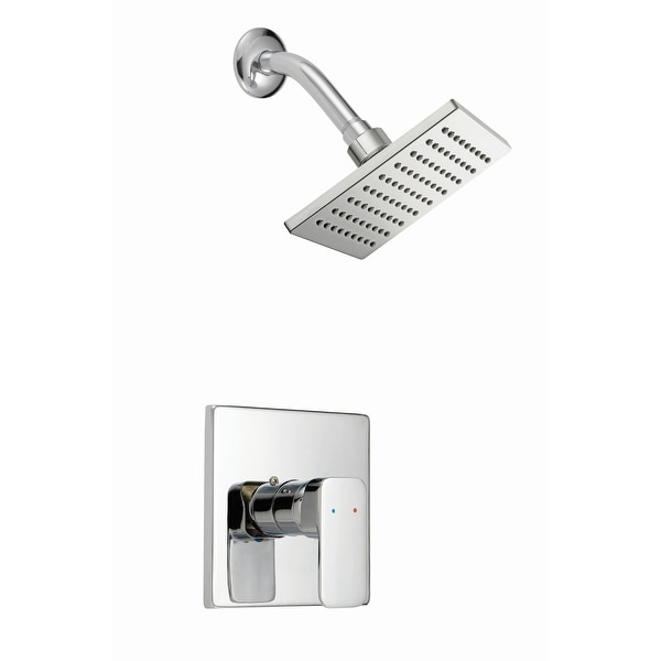 Design House 547711 Shower Trim Package with Single Function Shower Head - Polished Chrome